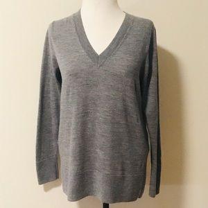 J.Jill Merino Wool V neck sweater